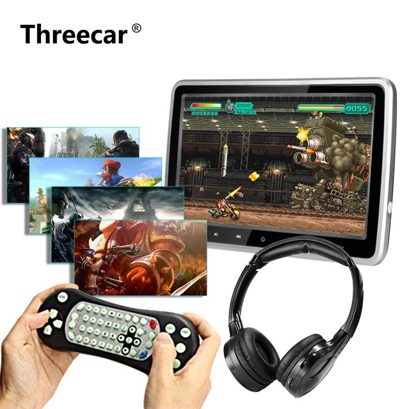 10 1 1024 600 Car Headrest with Monitor DVD Video Player Portable Car TV Monitor USB