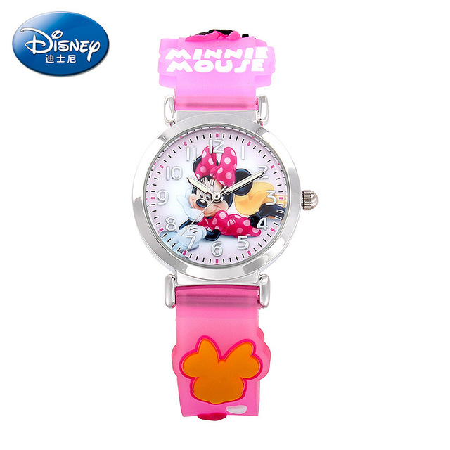 Disney Children Watch Brand Fashion Casual Watches Quartz Wristwatches Waterproof Jelly Kids Clock Boys Girls Students Montre