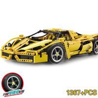 Decool Mobile Technic 1367pcs F1 Super Sports Car Speed Champions City MOC Building Block Bricks DIY Toys For Children