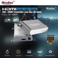 HSV379 HDMI коаксиальный удлинитель без потерь без задержки поддержка 1080P Full HD HDMI Extender м Трансмиссия 200 по коаксиальному одиночному кабелю