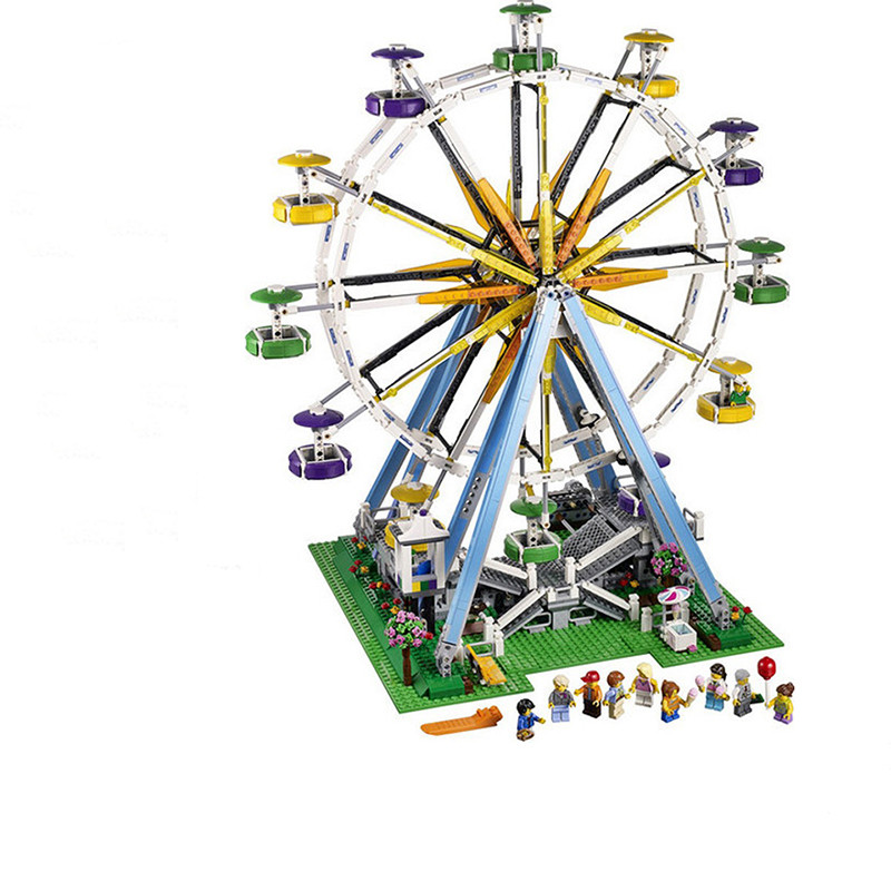 2518pcs Lepin City Expert Ferris Wheel Model Building Kits Blocks Bricks Toys Compatible With Legoingly 10247 gifts for kids free shipping lepin 2791pcs 16002 pirate ship metal beard s sea cow model building kits blocks bricks toys compatible with 70810