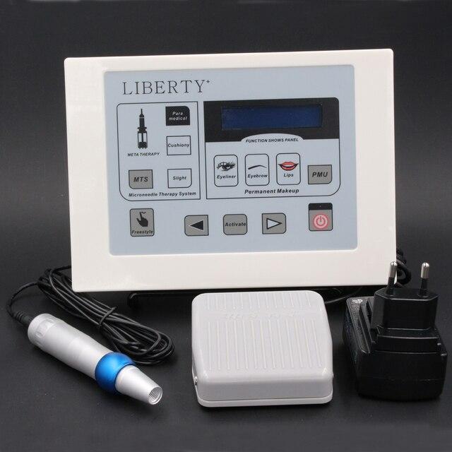 Лучший Liberty electric цифровой перманентный макияж машина комплект профессиональный для продажи с libetry ручки, power panel, иглы татуировки