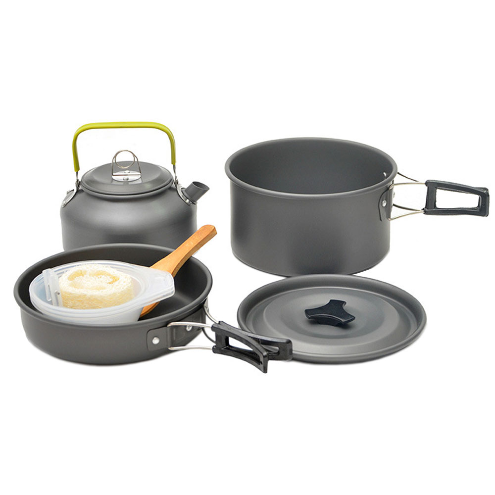 Kettle 2 3 People Are Suitable Outdoor Pan Set Camping Storage Bag Picnic Cookware
