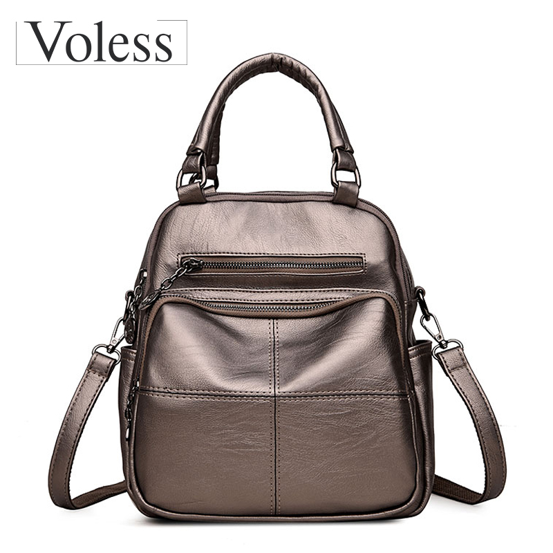 PU Leather Backpack Women School Bags For Teenagers Girls Large Capacity Casual Daypacks For Women Backpacks Mochila Sac A Dos