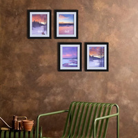 Giftgarden 6x8 Picture Frames Photo Frame Set Black Wall Photo Frames Home Decoration Accessories Wall Decor, Set of 4 PCS
