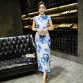 Chinese Traditional Long Dress Evening Dress Qipao S To 2XL Plus Size Vintage Summer Short Sleeve Wedding Cheongsam for Women