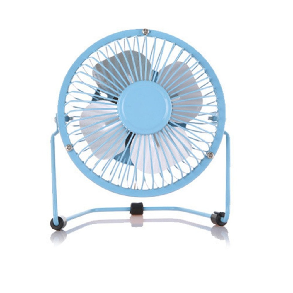 Small Table Fan with Switch on//Off Great for Desktop Tabletop Office Portable USB Powered Desk Mini Fan Metal Cooler Fan Cooling Mute Quiet