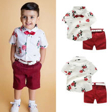 Toddler Kids Baby Boy Gentleman Clothes Shirt Tops Shorts Pants Formal Outfit UK