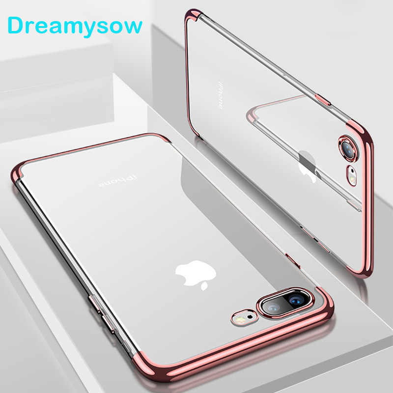 Silicon Clear Soft Case for iPhone X Xs max XR for iPhone 6S 6 s 6Plus 6SPlus 7 8 7Plus 8Plus slim Cell Phone Cover Casing