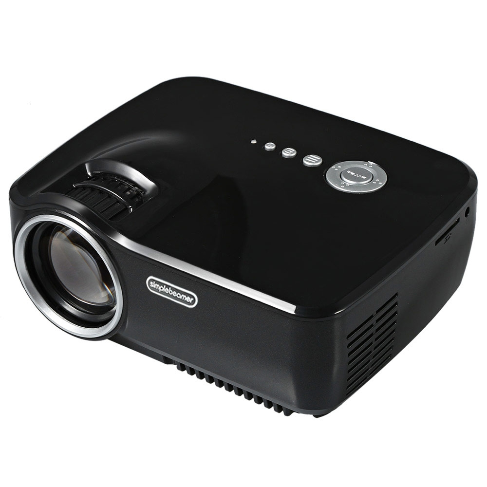 Portable EMP - GP70 Mini LED Projector Full HD 1080P LCD Projector for Home Theater Cinema with HDMI/USB/AV/SD/VGA Interface excelvan uc30 projector portable mini led lcd home entertainment theater projector 480 320 with usb sd vga hdmi av micro