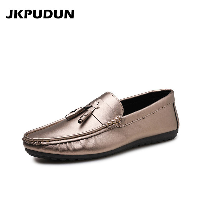 JKPUDUN Mens Casual Slipon Shoes Luxury Brand Tassel