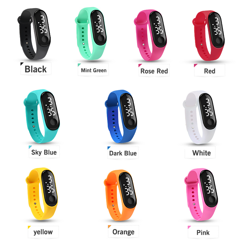 Men LED Digital Watch Luxury White Light Touch Screen Silicone Strap Wristwatch Women Sports Yoga Bracelets Watches Kids Clocks 4