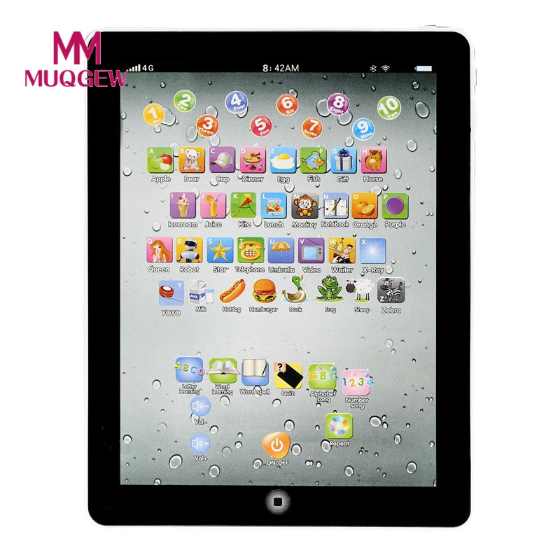 English Early Learning Study Machine Baby Tablet Educational Toys For Child Electronic Touch Type Computer Gift Toy DropShipping