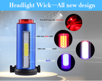 Colnels Waterproof Flash Rear Bicycle Light USB Rechargeable Tailed Bike Cycling Led Light 7 Modes 5