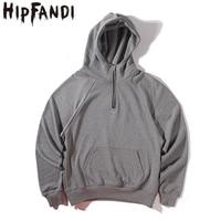 HIPFANDI 2019 Fashion Street Wear Mens Tracksuit Set Hip Hop Sweatshirt Clothing Men Hip Hop Oversize Neck Guard Sweatshirts