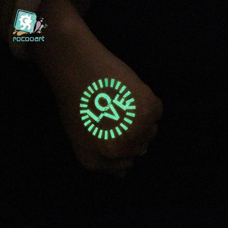 Technology Icons Tattoo Luminous Glowing in Dark Waterproof 1
