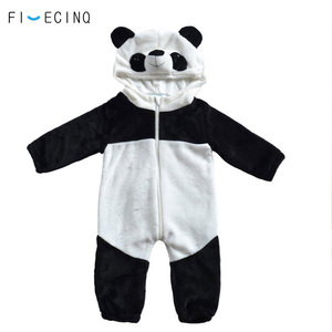 Image 3 - Panda Kigurumis Baby Kinder Kinder Cartoon Tier Cosplay Kostüm Warme Weiche Flanell Phantasie Winter Onesie Niedliche Pyjama Körper Anzug