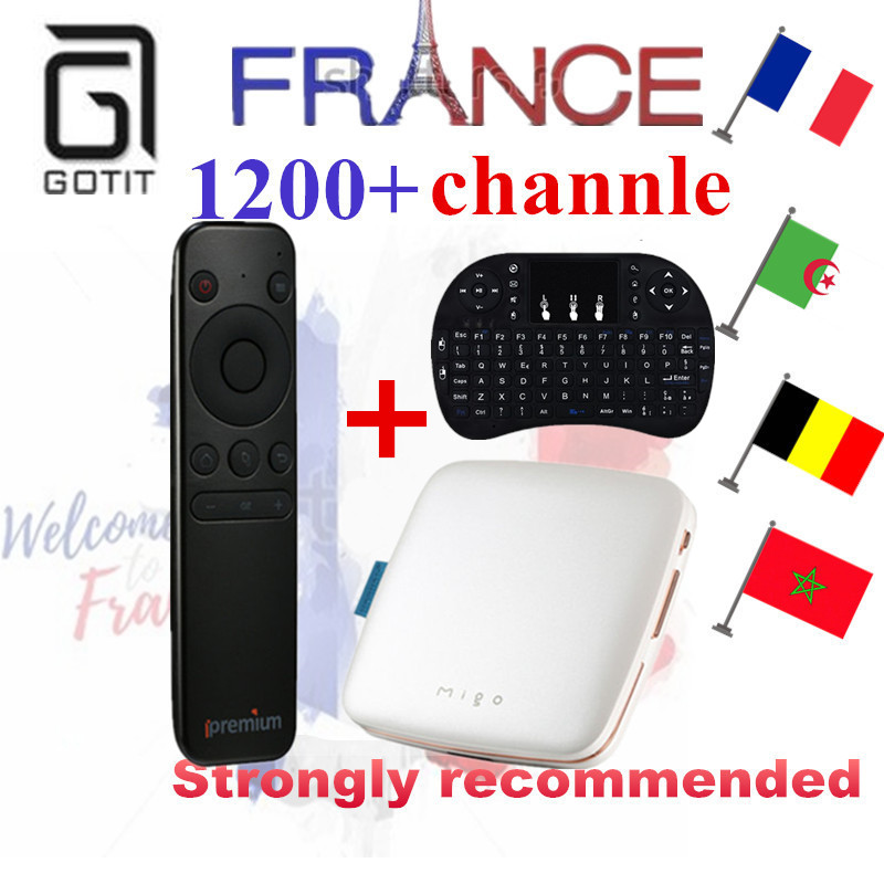 цены French IPTV Ipremium Migo Mini Android 5.1 Smart TV Box+ 1000+ NEOTV IPTV Europe Arabic Spain Tunisia Morocco IPTV Set Top Box