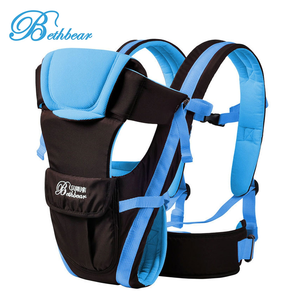 Bethbear Multifunctional 0-30 Months Breathable Front Facing Baby Carrier 4 in 1 Infant Comfortable Sling Backpack Pouch Hipseat