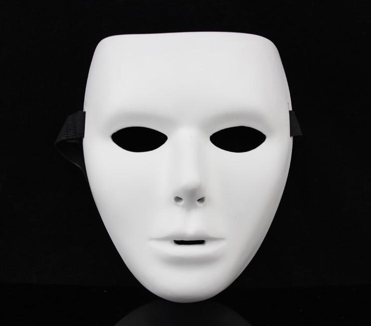 New resin blank plain jabbawockeez hiphop mask white halloween costume party cosplay recreation - Masque halloween film ...