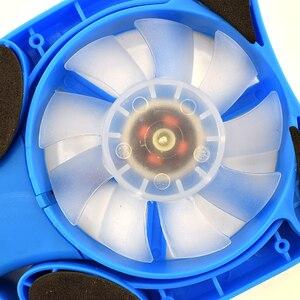 Image 4 - طوي USB محمول تبريد منصات مع مراوح مزدوجة صغيرة Octopus دفتر برودة وسادة التبريد ل 7 15 بوصة دفتر كمبيوتر محمول