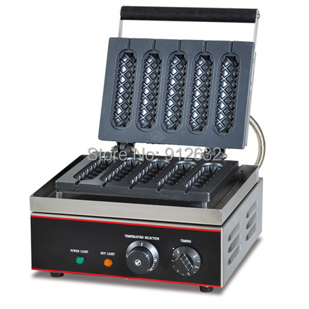 5 hot dog Crisp machine, snack muffin hot dog machine, lolly waffle maker hot dog machine