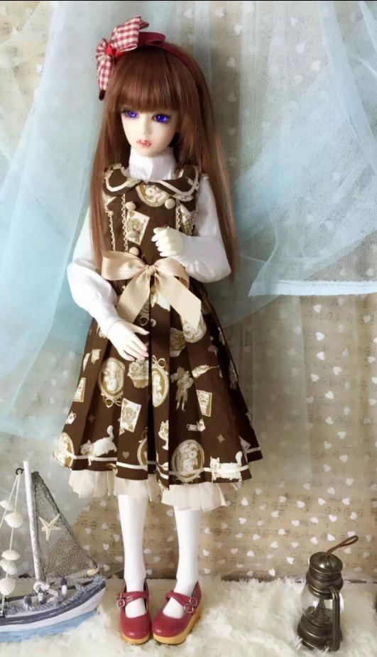 BJD doll clothes SD Lolita dresses 1 3rd scale 65cm bjd nude doll bazael bjd sd doll boy with face up not included clothes wig shoes and accessories
