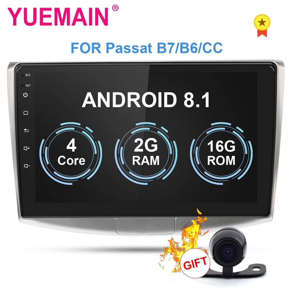 Lecteur multimédia Autoradio YUEMAIN pour VW Volkswagen Passat B7 B6/Magotan 2Din Android 8.1 Autoradio GPS Navigation DVR caméra