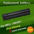 Bateria do portátil para dell latitude e5420 e5420m jigu e5520 e5530 E6420 E5430 E5520m E6520 E6530 E6430 E6440 Para Inspiron 14R 15R
