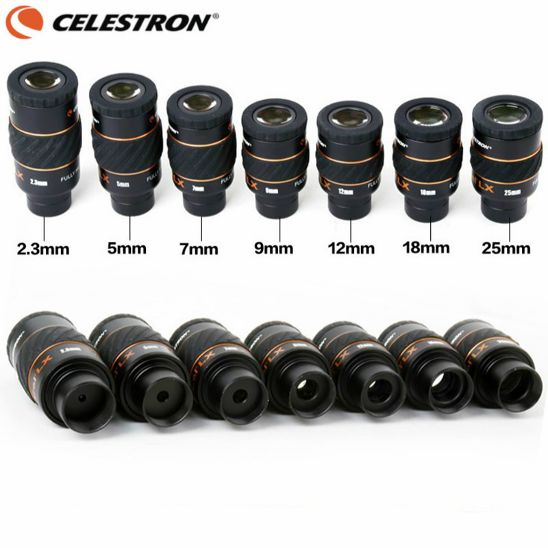 Celestron X-CEL LX 2.3 mm 5 mm 7mm 9mm 12mm 18mm 25 mm Eyepiece 60 Degree Wide-angle Telescope Nebula Planetary Eyepiece 1.25 9mm wide angle 66 degree fcm astronomical telescope eyepiece 1 25 in 31 7mm astronomic telescope accessories