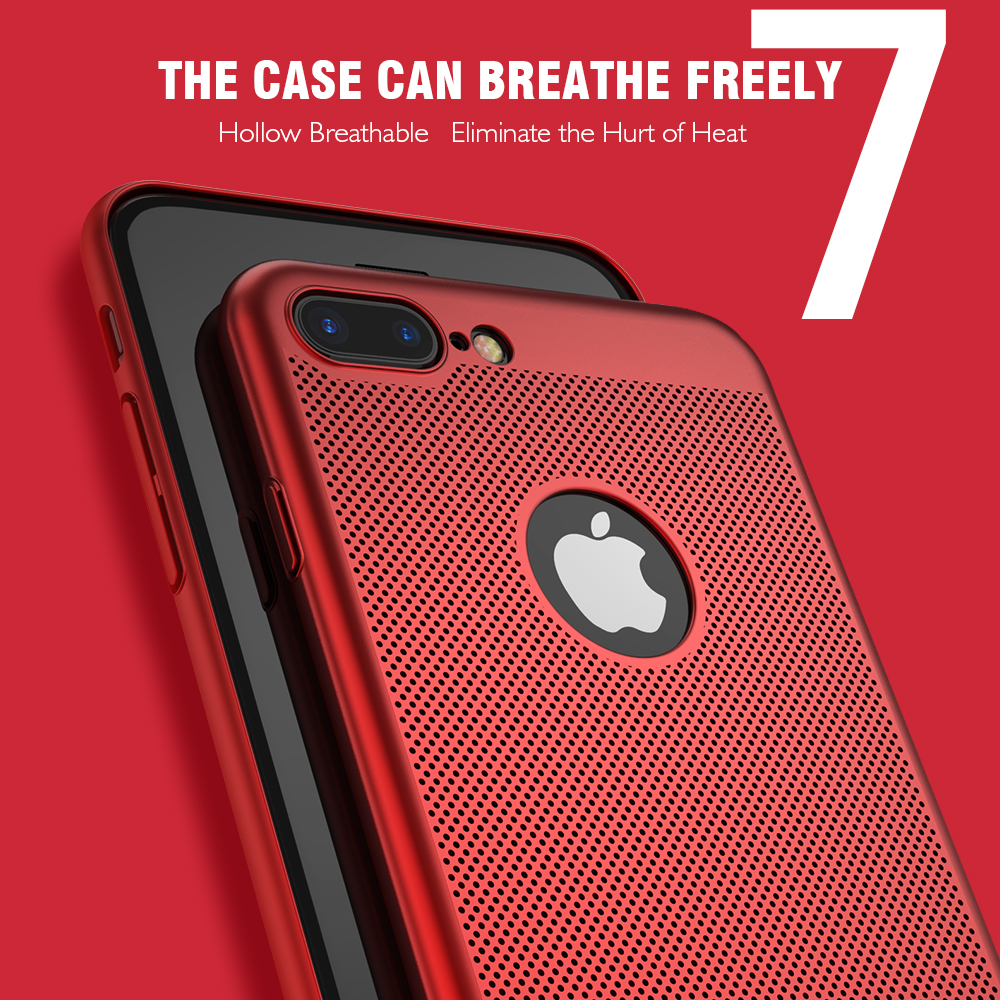 HTB1OXN5ewvD8KJjy0Flq6ygBFXaV - Ultra Slim Phone Case For iPhone 6 6s 7 8 Plus Hollow Heat Dissipation Cases Hard PC For iPhone 5 5S SE Back Cover Coque X S MAX