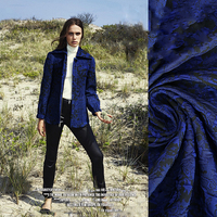 2017 Shadow Blue Korean Imports Yarn Dyed Windbreaker Suit Material Clothing Design Coat Windbreaker Skirt Fabric