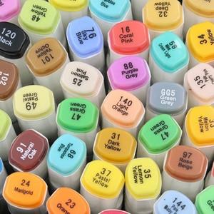 Image 4 - Touchnew gekleurde kopie markers set alcohol sketch marker pennen art supplies borstel manga tekening acryl Designer pen set student