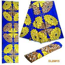 African wax national style polyester fabric printing batik print DIY 6 yadrs