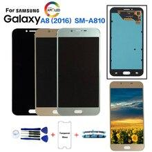 Original pour samsung Galaxy A8 2016 A810 SM A810 remplacement décran daffichage à cristaux liquides pour samsung SM A810S SM A810Y module daffichage à cristaux liquides