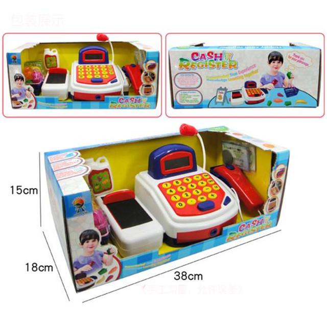 HOT Juegos de imaginación Juguete Caja Registradora Electrónica Acciones Realistas y Sonidos Con Mic ER AGOSTO 30