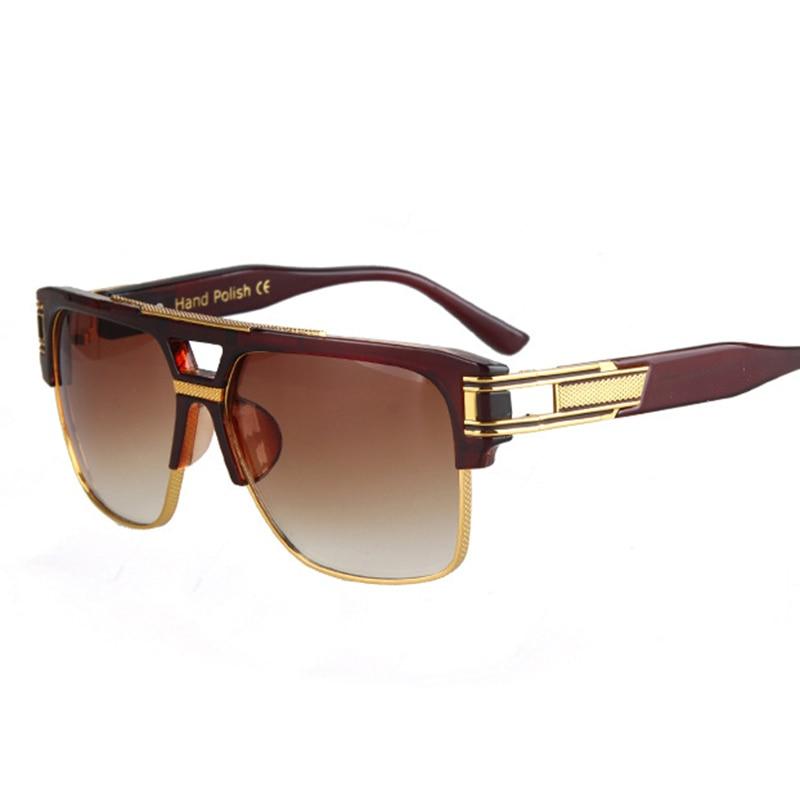 Fashion Luxury Solglasögon Män Kvinnor Märke Designer Semi Rimless - Kläder tillbehör - Foto 3