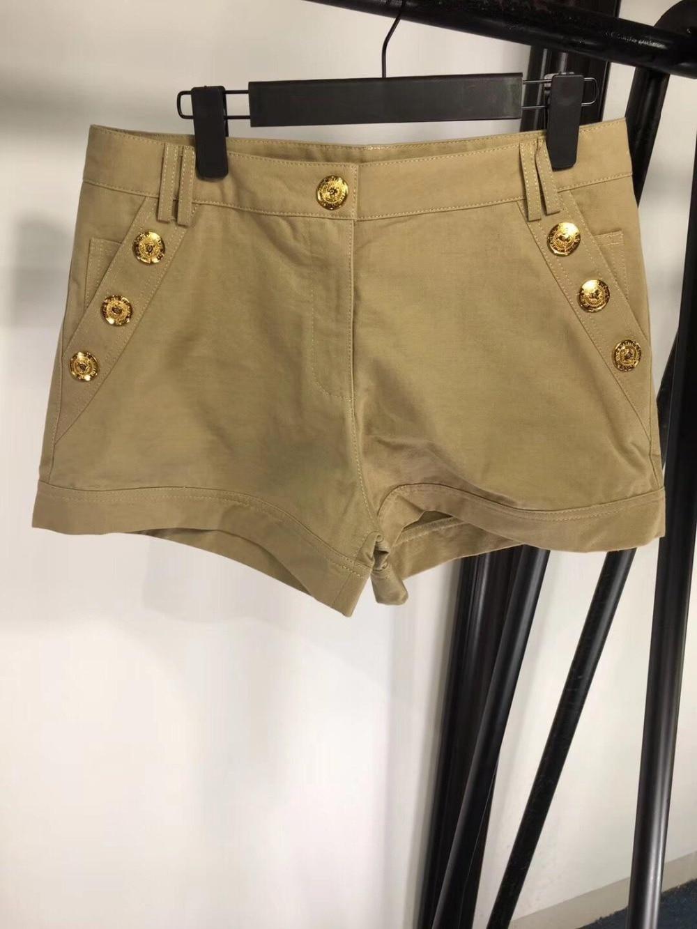 2019 new ladies button pocket denim shorts 0403