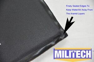 Image 4 - MILITECH 10x12 STC & RC Cut NIJ 0101.06 IIIA 3A NIJ 0115.00 Livello 2 Stab Resistente Piatto A Prova di Proiettile aramide Morbida Balistico Pannello