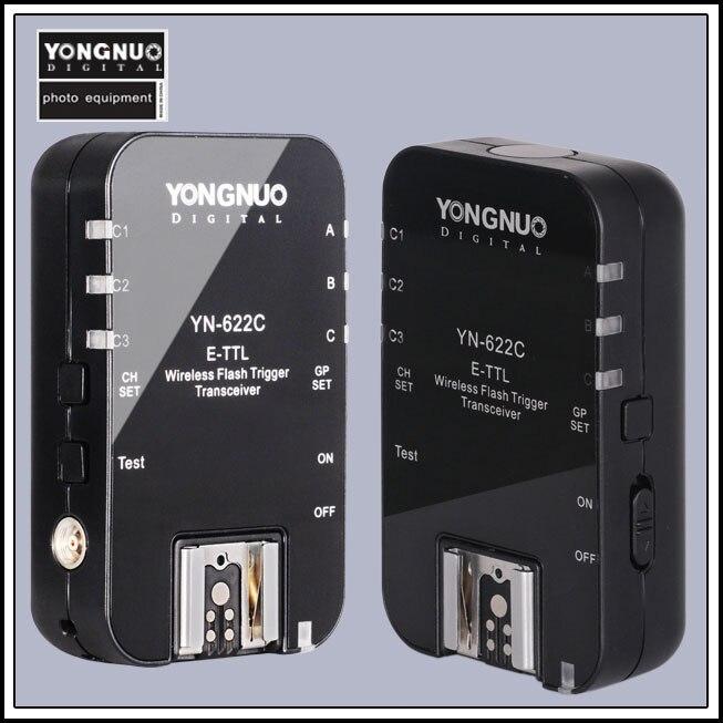 Yongnuo YN-622C YN 622 Wireless ETTL HSS 1/8000 S Flash Trigger 2 ricetrasmettitori per Canon 1100D 1000D 650D 600D 550D 7D 5DII 40D