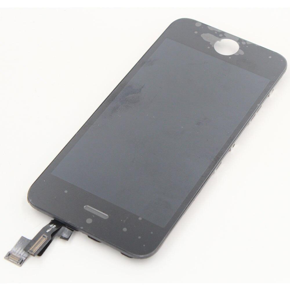 imágenes para 10 unids/lote en stock precio barato para el iphone 5s lcd de repuesto, para el iphone 5s lcd digitalizador, pantalla lcd original para iphone 5s