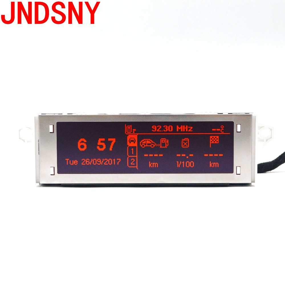 JNDSNY Red screen support USB and Bluetooth Display red monitor 12 pin for Peugeot 307 207 408 citroen C4 C5 Red Screen.12 pin цена 2017