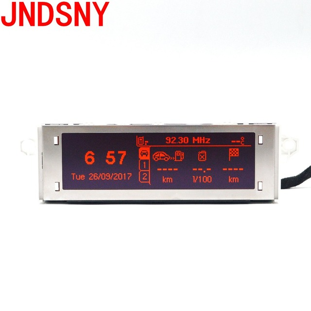 JNDSNY Rouge écran support USB et Bluetooth Affichage rouge moniteur 12 broches pour Peugeot 307 207 408 citroen C4 C5 Rouge Screen.12 broches