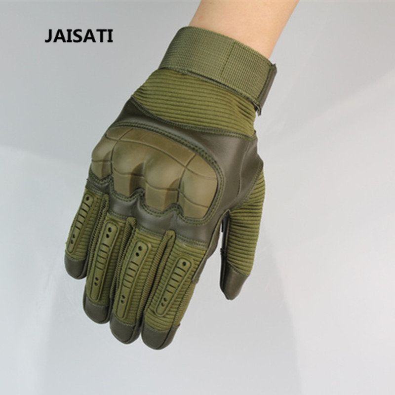 JAISATI Tactical All-finger Gloves Non-slip Wear-resistant Motorcycle Outdoor Army Anti-Cut Gloves