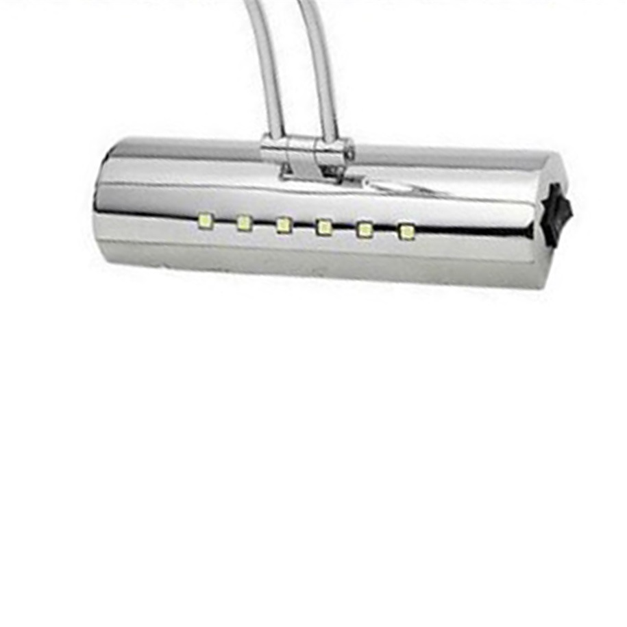LED Bending Tube Light Bathroom Bedroom Adjustable Mirror cabinet ...