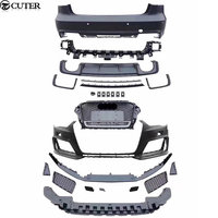 A3 RS3 style Car body kit PP front bumper front grill grille rear bumper rear diffuser side skirts for Audi A3 RS3 14 16