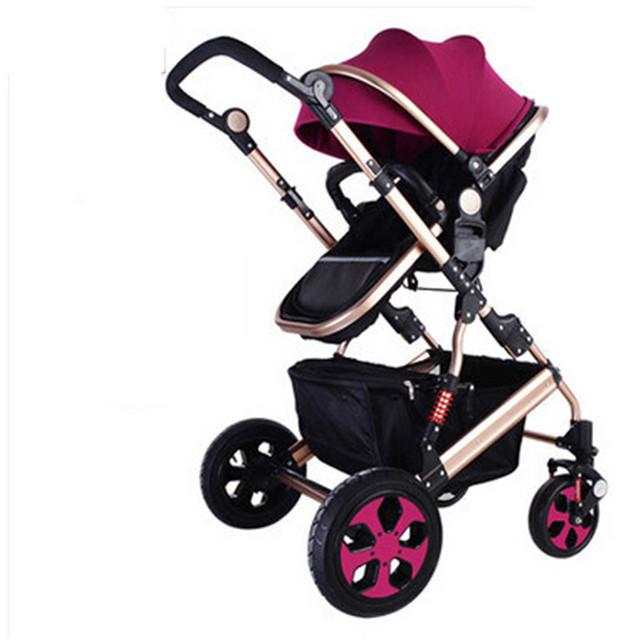 Carro de Bebé cochecito de Lujo de Alta Visión de Moda Excelente Calidad de Baby Buggy Cochecito de Bebé y Cochecito plegable de la luz