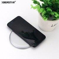XBERSTAR Snelle Oplader Draadloze Opladen Pad Stand Dock Station voor Samsung s8/S8 Plus/iPhone 8 plus/X Houder Cradle Zwart Zilver