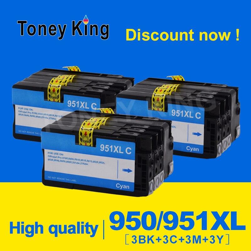 Toney King cartouche d'encre Compatible remplacement pour HP 950 951 XL pour HP Officejet Pro 8100 8600 8610 8620 8630 251dw 276dw 8650