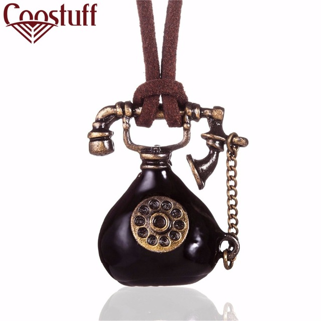 new vintage woman jewelry statement necklaces & pendants,long rope telephone pen
